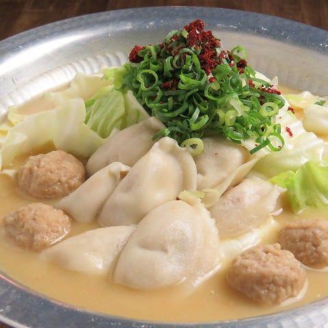 【餃子&炊き餃子コース】2500円(税込)★お造り3種盛りや鶏のから揚げ、〆のちゃんぽん麺付き!