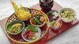 ■旬花御膳 1780 円(税込)お刺身・天ぷら・煮物が楽しめます