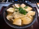 湯葉と豆腐のあんかけうどん