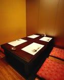 掘りごたつ式の完全個室です。 予約は、お早めに!