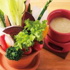 季節野菜のクリスタルバーニャカウダ
