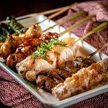 自慢の焼き鳥・串焼きは1本からご注文できます!!