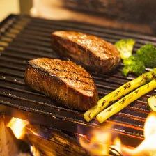 ステーキや鮮魚を豪快に♪炎の薪焼き
