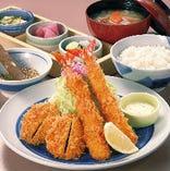 国産豚ヒレかつと海老フライ定食