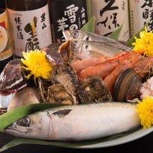 函館市場直送の新鮮魚介