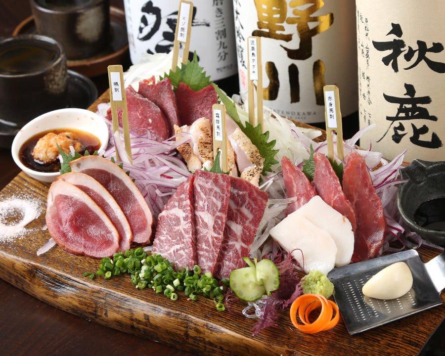 肉刺し5種盛り特価2000円