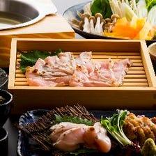 《久米島赤鶏しゃぶしゃぶコース》全5品・「生でも食べれる程の感動の赤鶏」素材の味をしゃぶしゃぶで。