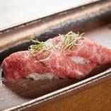 おきなわ和牛を贅沢に使ったにぎり寿司!是非ご賞味ください☆