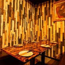 モダンの暖かみある個室空間です!