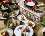 歓送迎会に、山海料理を七輪で楽しめるコース、