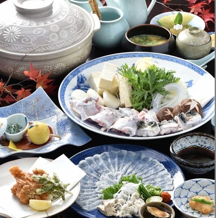 刺身も良し鍋も良し多彩なふぐ料理