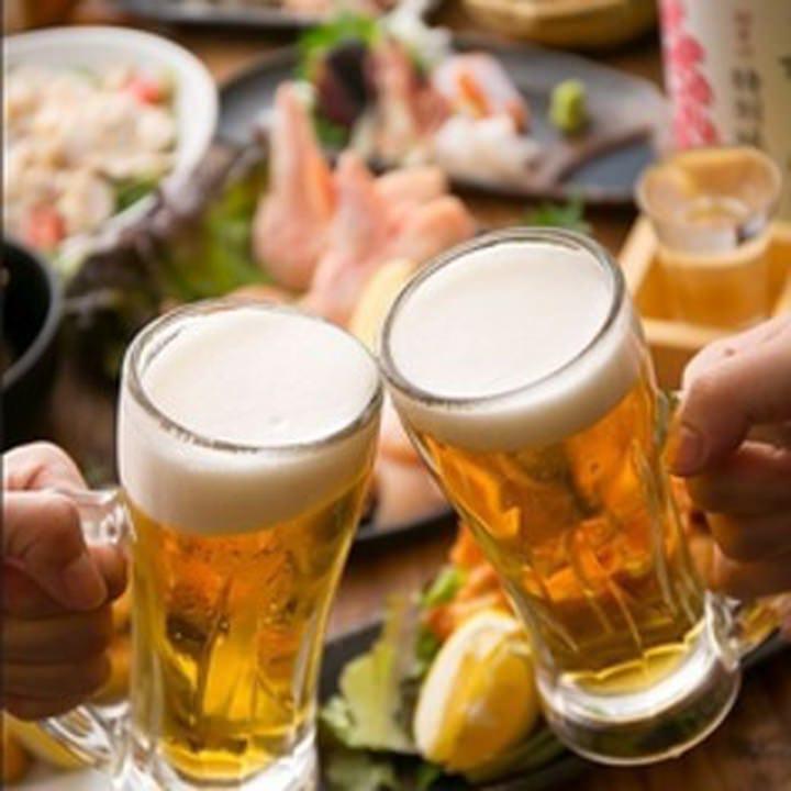 【当日OK】生ビールやハイボールなど含む40種以上!単品飲み放題プラン 1時間550円