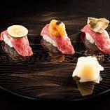 肉割烹料理。肉寿司が食べれます。和食と肉の融合をご賞味下さい