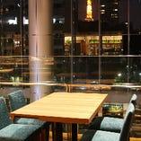 東京タワーの見える夜景席