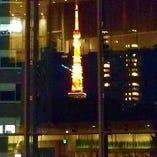 雰囲気◎人気の東京タワーが見えるテラス席☆ご予約必須です!!