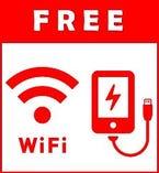 全部屋充電器完備、かつ高速Wi-Fi接続可