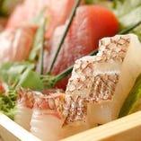 【金目鯛・地魚】 下田漁港直送!!旬の魚介類をお刺身や干物で