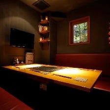 和情緒溢れるゆったり個室を完備!