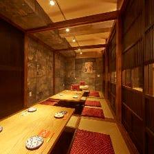 沖縄古民家風の空間で個室は4〜16名