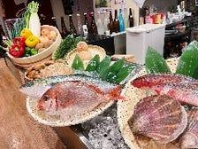 魚や野菜、沖縄県産豚を焼き物で!