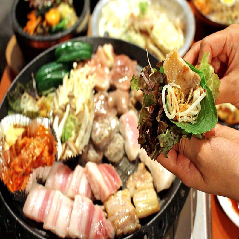 【プレミアム食べ放題3380円】 メイン料理10種・韓国料理70種♪
