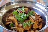 白身魚山椒風味炒め¥1108