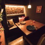 スペイン風の完全個室(デートや記念日に…)