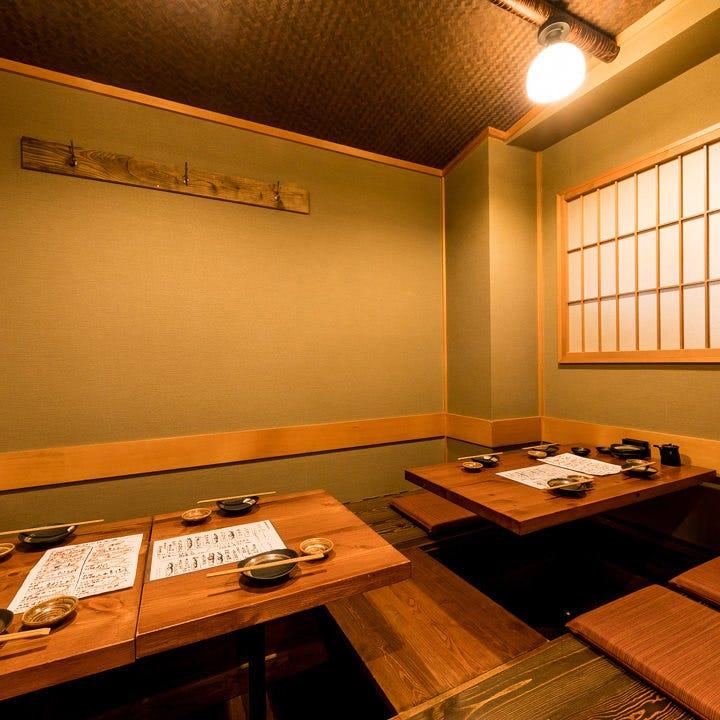 大切な接待・会食に!和情緒溢れる4~8名様用掘りごたつ式個室。