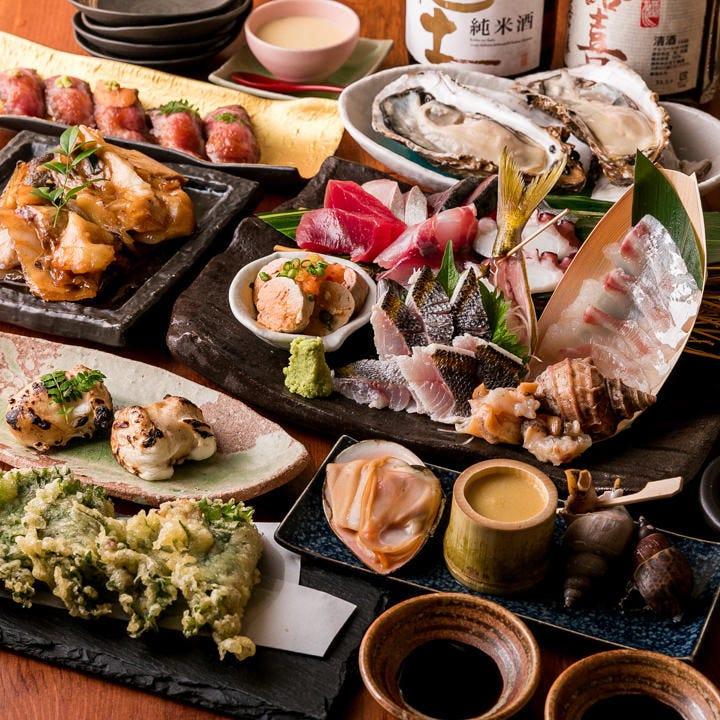 肉寿司と高級魚介&厳選鮮魚の7品仕立て!「4,000円コース」