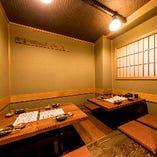 【掘りごたつ式お座敷個室】接待・会食におすすめの落ち着いた雰囲気の席|4~8名様