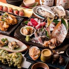 肉寿司付!4,000円コース(税抜)