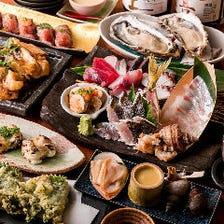 コース<7品>自家製ローストビーフのとろける肉寿司付!旬の魚介の美食料理|宴会、接待、会食、デート