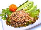 鶏ひき肉の辛口ハーブ和え(ラープ・ガイ)*豚ひき肉でも作れます♪