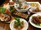 人気の大皿宴会コースは4名様より。1500円/名