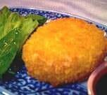 契約農家のじゃが芋コロッケ&刺身定食(コロッケ&さしみていしょく)