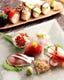 野菜のにぎり寿司 刺身盛り合わせ