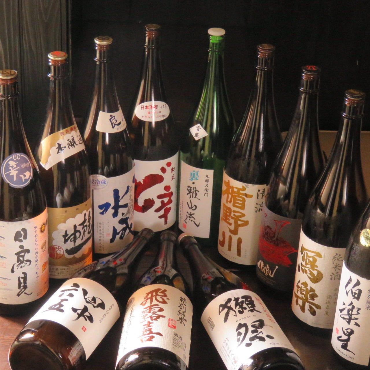 オーナーが厳選吟味して仕入れる全国各地の日本酒をどうぞ