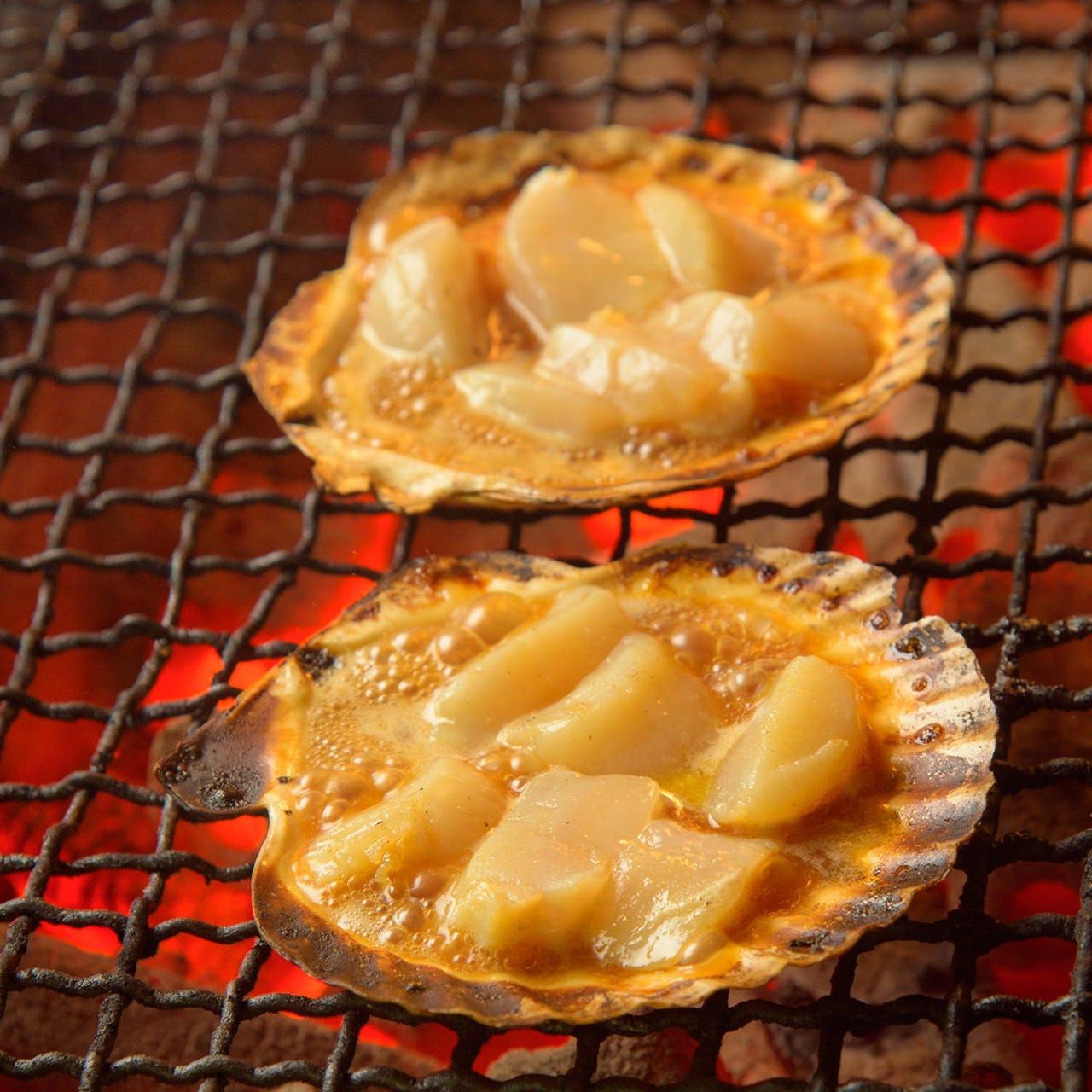 三陸産の帆立からあふれ出るジューシーな旨味と甘味を満喫
