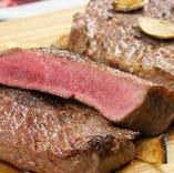 牛赤身肉の炙り焼き