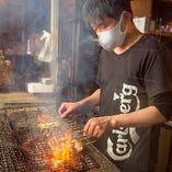 本格備長炭で丁寧に焼き上げます