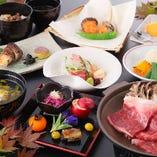 地産地消の食材を楽しめる会席 男体山7,560円(税込)