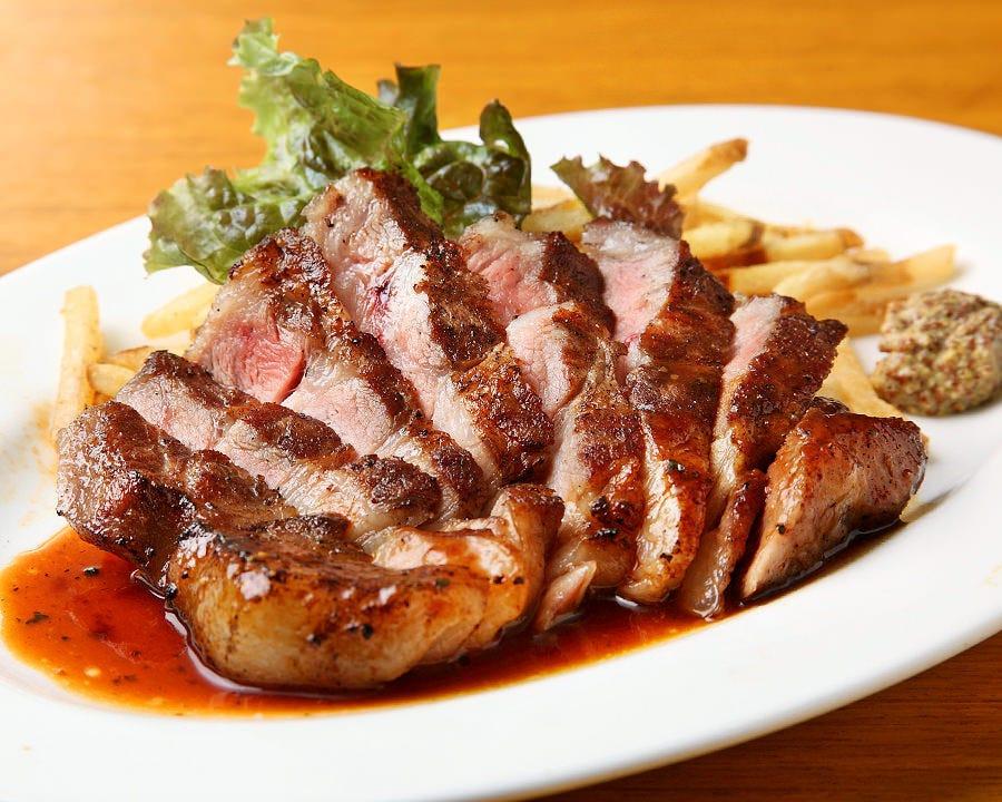 厳選のブランドポーク肩ロース! 繊細美味なガッツリ系ステーキ!