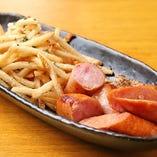 イベリコ豚のソーセージ&フライドポテト
