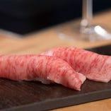 炙り寿司のお肉の味が違う!と好評。お勧めです。