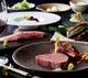 黒毛和牛ステーキとアワビ・車海老のコース「料理長特選コース」