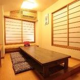 個室席は完全個室になります!顔合わせやご法要にも最適です。