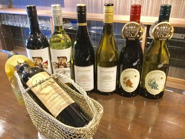 鉄板焼きに合う豊富なワイン