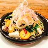 真鯛と春野菜のペペロンチーノ