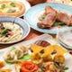前菜からピザ、リゾットまでバラエティ豊かなコース料理
