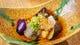 丸茄子のフキ味噌田楽